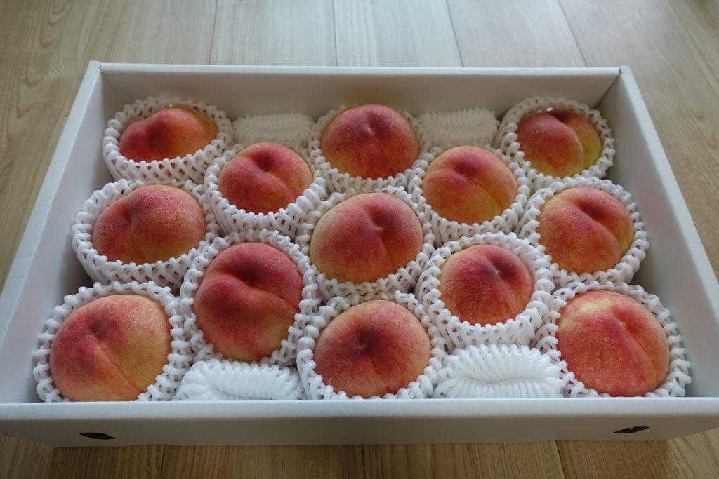 和歌山県の湯浅町からふるさと納税の返礼品の桃が届きました。