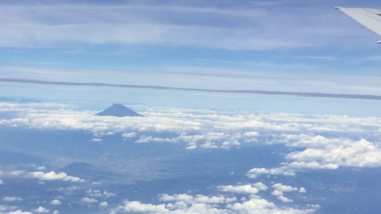 富士山 飛行機