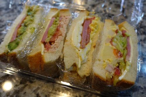 今日のお弁当はサンドイッチです。