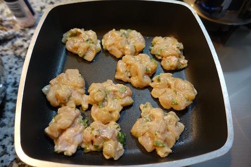 鶏胸肉と大葉でゴロゴロ焼きをつくってみました。